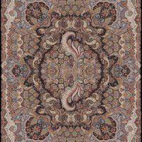 فرش ۱۰۰۰ شانه نقشه سیمرغ سرمه ای