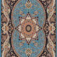 فرش ۷۰۰ شانه نقشه چیچک آبی