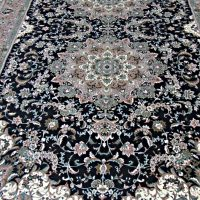 یک جفت فرش زیر قیمت ۱۵ متری سرمه ای زرین سهیل (فروخته شد)