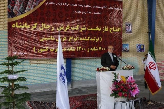 ایران باید به یکی از بزرگترین صادرکنندگان فرش ماشینی جهان تبدیل شود