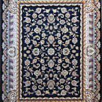 فرش ۱۰۰۰ شانه نقشه افشان سلطنتی سرمه ای