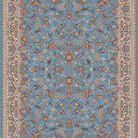 فرش طرح ۷۰۰ شانه افشان درباری آبی