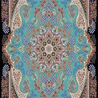 فرش ۷۰۰شانه نقشه آرشیدا آبی