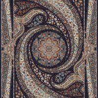فرش طرح ۷۰۰ شانه کهکشان سرمه ای
