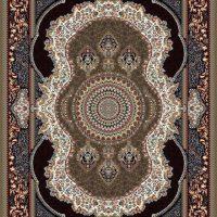فرش طرح ۷۰۰ شانه کهربا گردویی