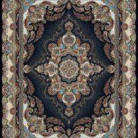 فرش ۱۰۰۰ شانه نقشه ترانه سرمه ای