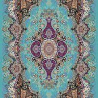 فرش ۷۰۰شانه نقشه اهورا آبی