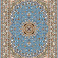 فرش ۱۲۰۰ شانه نقشه صاحبقران آبی