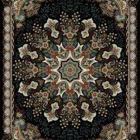 فرش ۷۰۰ شانه نقشه آدرینا سرمه ای