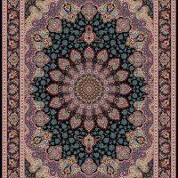 فرش ۱۲۰۰ شانه نقشه آرمیتا سرمه ای