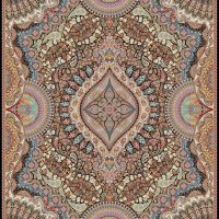 فرش ۱۰۰۰ شانه نقشه آیلار سرمه ای