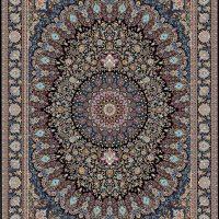 فرش ۱۲۰۰ شانه نقشه پارسیس سرمه ای