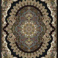 فرش ۷۰۰ شانه نقشه ارکیده سرمه ای