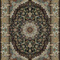 فرش ۷۰۰ شانه نقشه اصفهان سرمه ای