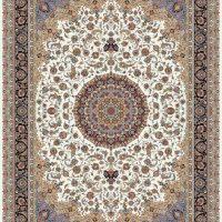 فرش ۱۰۰۰ شانه نقشه اصفهان کرم