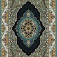 فرش ۷۰۰ شانه نقشه اطلسی آبی