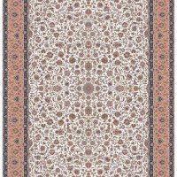 فرش ۱۲۰۰ شانه نقشه افشان گلریز کرم حاشیه گلبهی