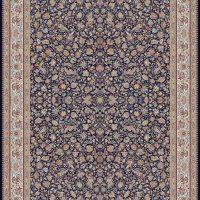 فرش ۱۰۰۰ شانه نقشه افشان گل مرغی سرمه ای