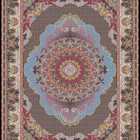 فرش ۱۲۰۰ شانه نقشه کژال سرمه ای
