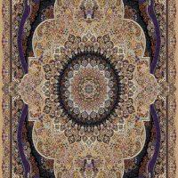 فرش ۷۰۰ شانه نقشه ترنم بادامی