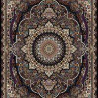 فرش ۱۰۰۰ شانه نقشه ترنم سرمه ای