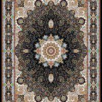 فرش ۱۲۰۰ شانه نقشه خاتون سرمه ای