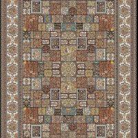 فرش ۷۰۰ شانه نقشه خشتی سرمه ای