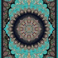 فرش ۱۰۰۰ شانه نقشه خورشید الماسی