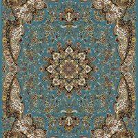 فرش ۷۰۰ شانه نقشه دیانا آبی