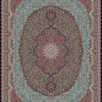 فرش ۱۰۰۰ شانه نقشه رزیتا سرمه ای