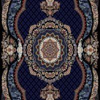 فرش ۷۰۰ شانه نقشه رضوان سرمه ای