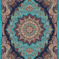 فرش ۱۰۰۰ شانه نقشه رونیکا آبی الماسی