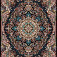 فرش ۱۰۰۰ شانه نقشه رونیکا سرمه ای