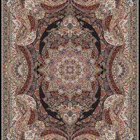 فرش ۱۰۰۰ شانه نقشه ستاره سرمه ای