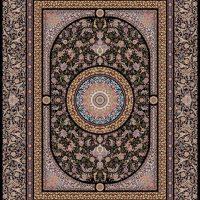 فرش ۱۲۰۰ شانه نقشه سفیر سرمه ای