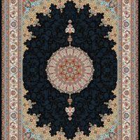 فرش ۱۰۰۰ شانه نقشه شاه عباسی سرمه ای