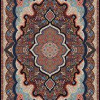 فرش ۱۰۰۰ شانه نقشه شاه پری سرمه ای
