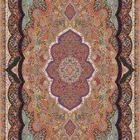 فرش ۷۰۰ شانه نقشه شاه پری بادامی