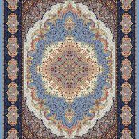 فرش ۱۲۰۰ شانه نقشه شهرزاد آبی