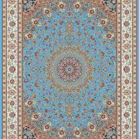 فرش ۱۲۰۰ شانه نقشه صاحب قرآن آبی