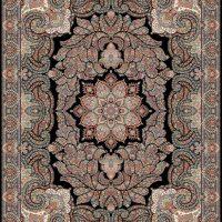 فرش ۱۰۰۰ شانه نقشه فردوس سرمه ای