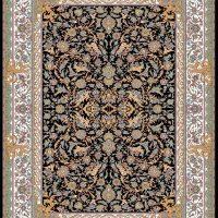 فرش ۱۲۰۰ شانه نقشه فرنگ سرمه ای