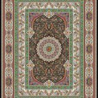 فرش ۱۰۰۰ شانه نقشه قاب بهشت سرمه ای