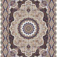 فرش ۱۲۰۰ شانه نقشه گلبرگ کرم