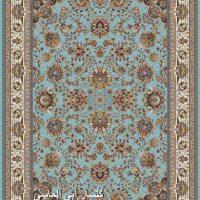 فرش ۱۰۰۰ شانه نقشه گلسار آبی الماسی