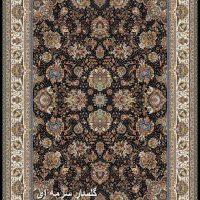 فرش ۱۰۰۰ شانه نقشه گلسار سرمه ای