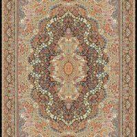 فرش ۱۰۰۰ شانه نقشه گلستانه سرمه ای