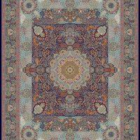 فرش ۱۰۰۰ شانه نقشه مجلسی سرمه ای