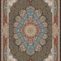 فرش ۱۰۰۰ شانه نقشه مستانه سرمه ای
