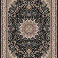 فرش ۱۲۰۰ شانه نقشه مشهد سرمه ای